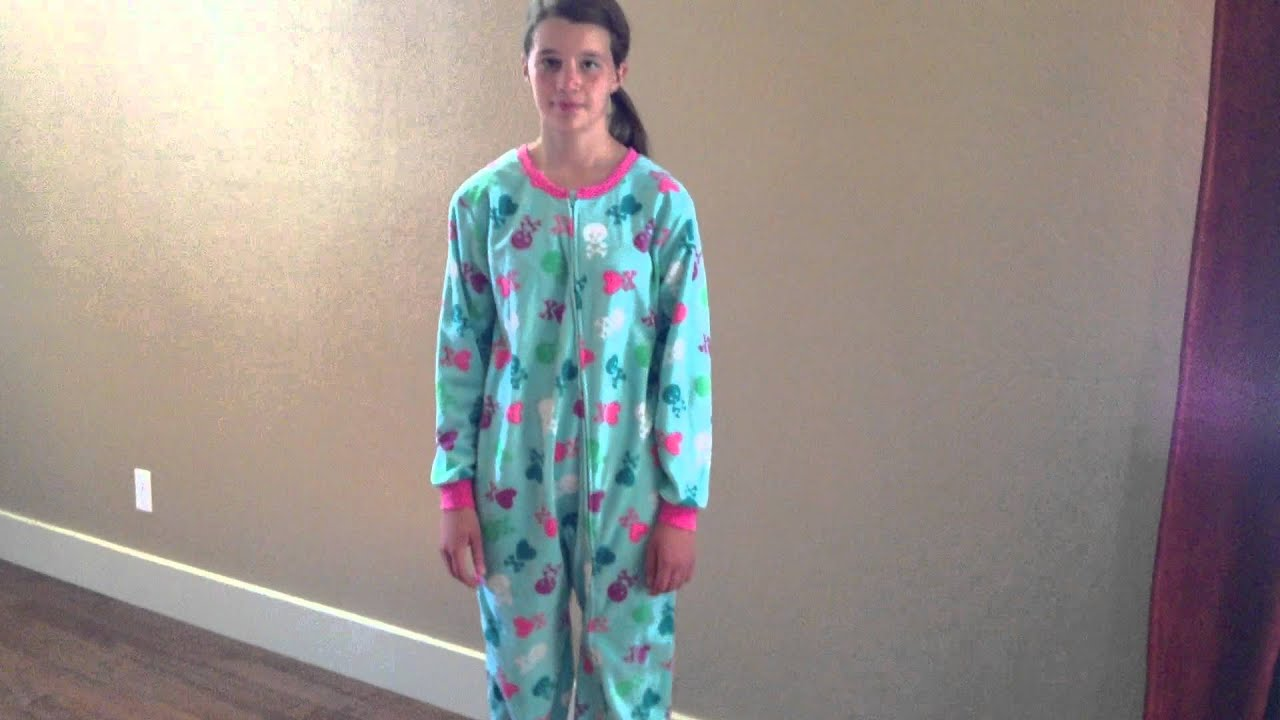 Skull Footed Pajamas for Girls - YouTube