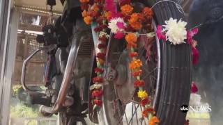 Motorcycle temple in India   Om Banna