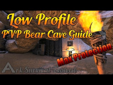 Bear Cave PVP Base! | Low Profile Build Guide | Surviving Ark: Survival Evolved