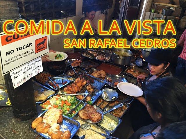 COMIDA A LA VISTA SAN RAFAEL CEDROS CUSCATLAN EL SALVADOR