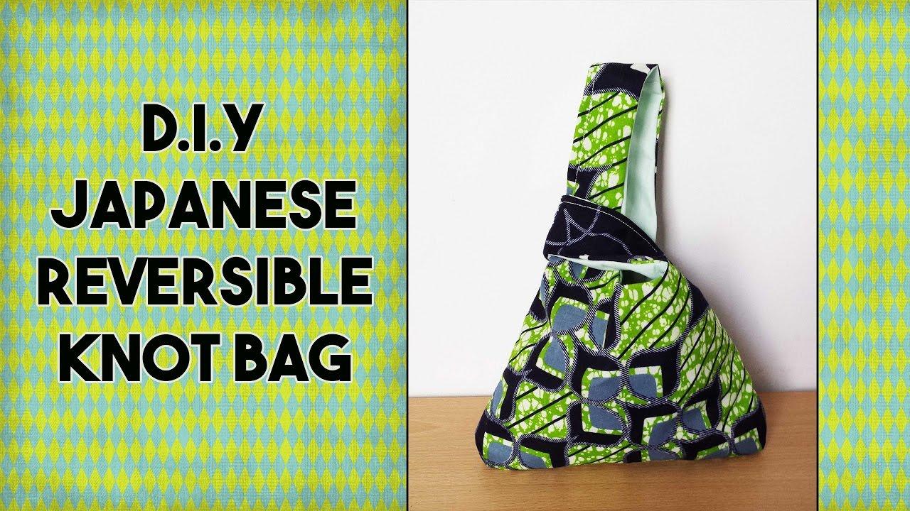 cb3b3e4039 DIY  Japanese Reversible Knot Bag - Craftbrulee - YouTube