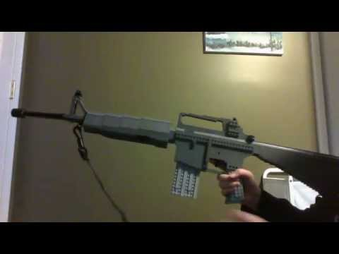 How To Make A Lego M16 With Grenade Launcher