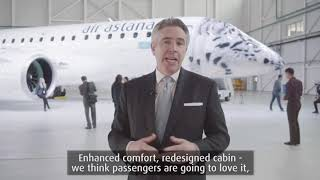 The presentation of Air Astana's new Embraer E190-E2