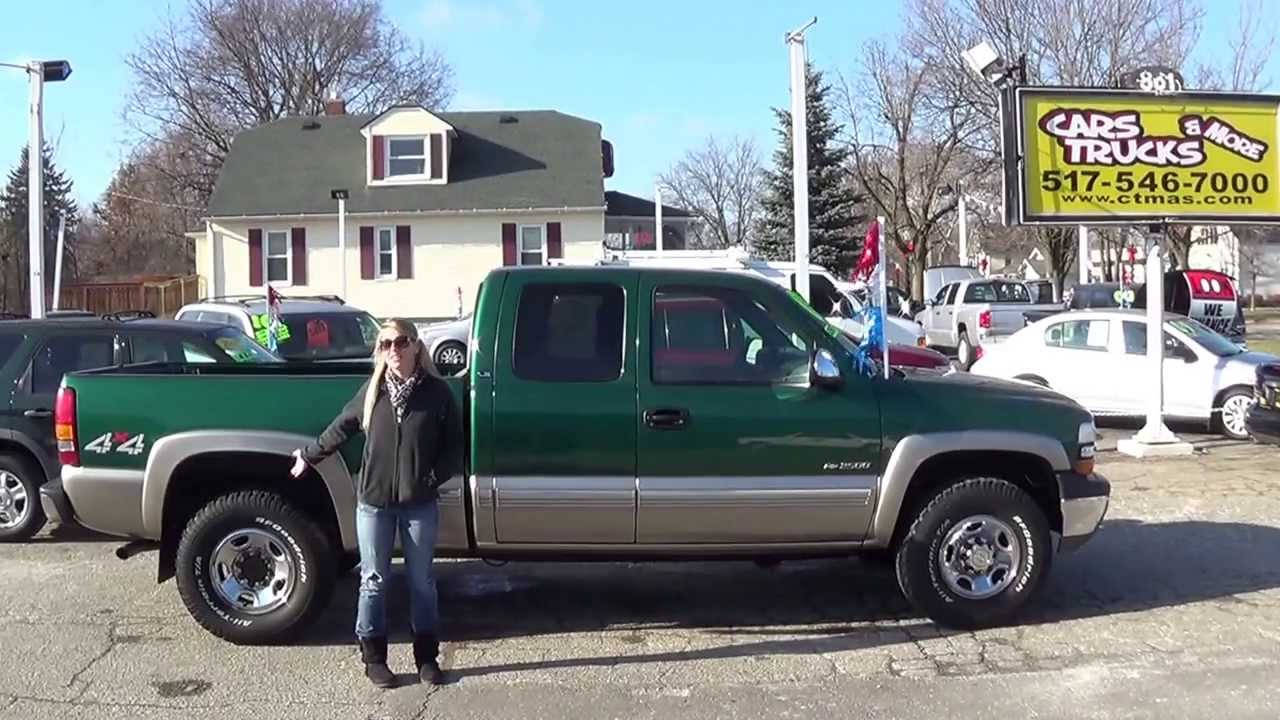 2000 chevy silverado 2500 4x4 used cars trucks for sale in howell mi youtube. Black Bedroom Furniture Sets. Home Design Ideas