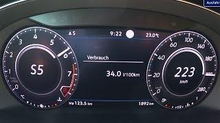 2017 Volkswagen Arteon 2.0 TSI 4MOTION 280 PS - 0-100 km/h, 0-60 mph, Tachovideo, Beschleunigung