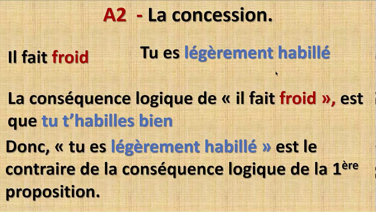 Grammaire Au College Maroc L Opposition Et La Concession Francais P1