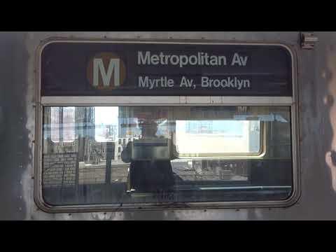 NYC Subway: Metropolitan Avenue-bound R42 (M) Entering & Leaving Fresh Pond Road (Track 1)