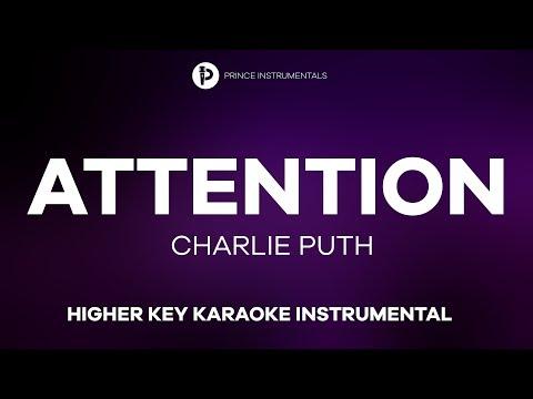 Charlie Puth - Attention [ Higher Key Instrumental Karaoke ]