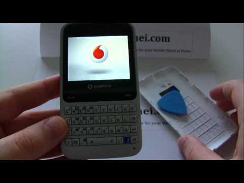 Vodafone 555, Alcatel OT-V555 Unlock & input / enter code.AVI