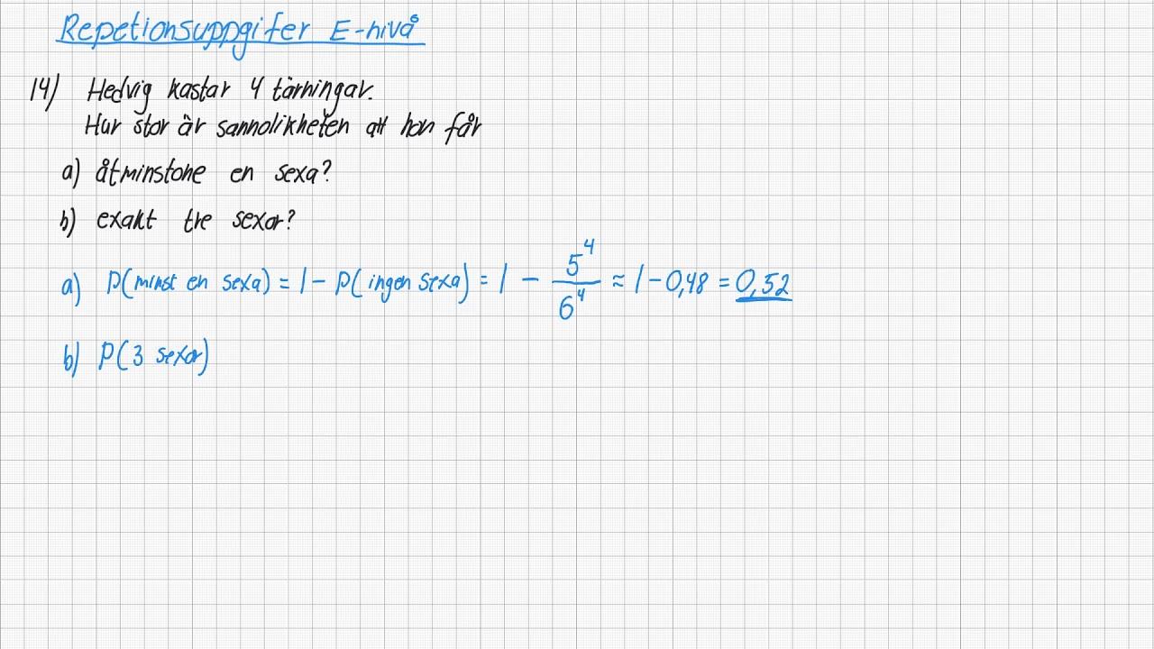 Diskret matematik 1 - Repetition E-nivå