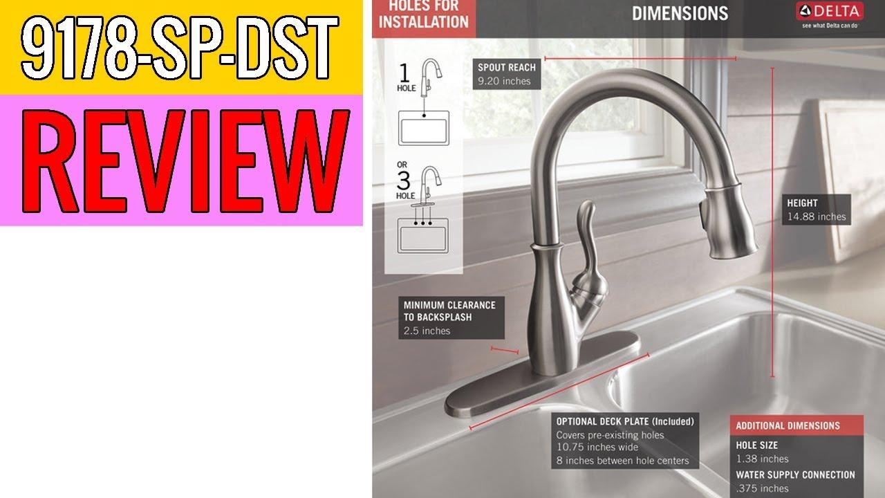 delta faucet leland single handle kitchen 9178 sp dst review