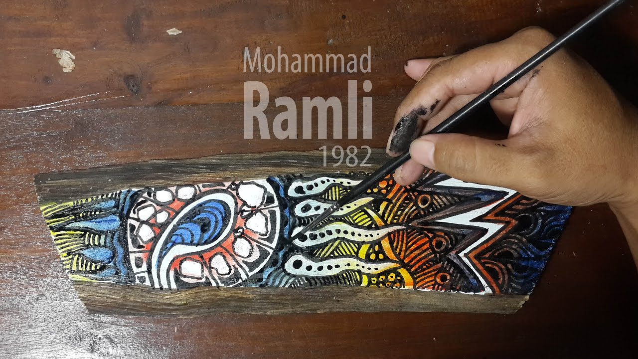 Cara Cepat Melukis Dekoratif Decorative Painting Youtube
