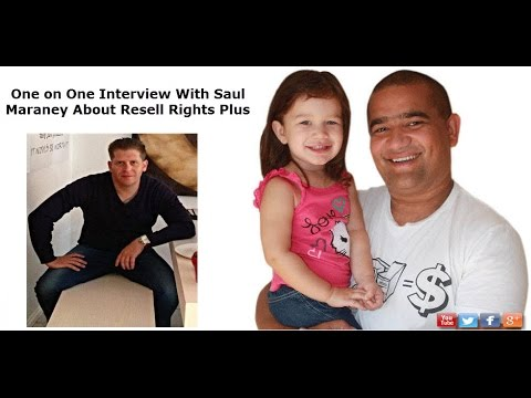 Top Marketer Saul Maraney Interviews Edson Buchanan About Resell Rights Plus
