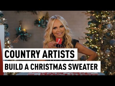 Angie Ward - Country Stars Design Ultimate Ugly Christmas Sweater For Charity!
