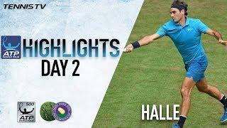 Highlights: Federer Sprints Through Halle 2018 Opener, Coric Upsets Zverev