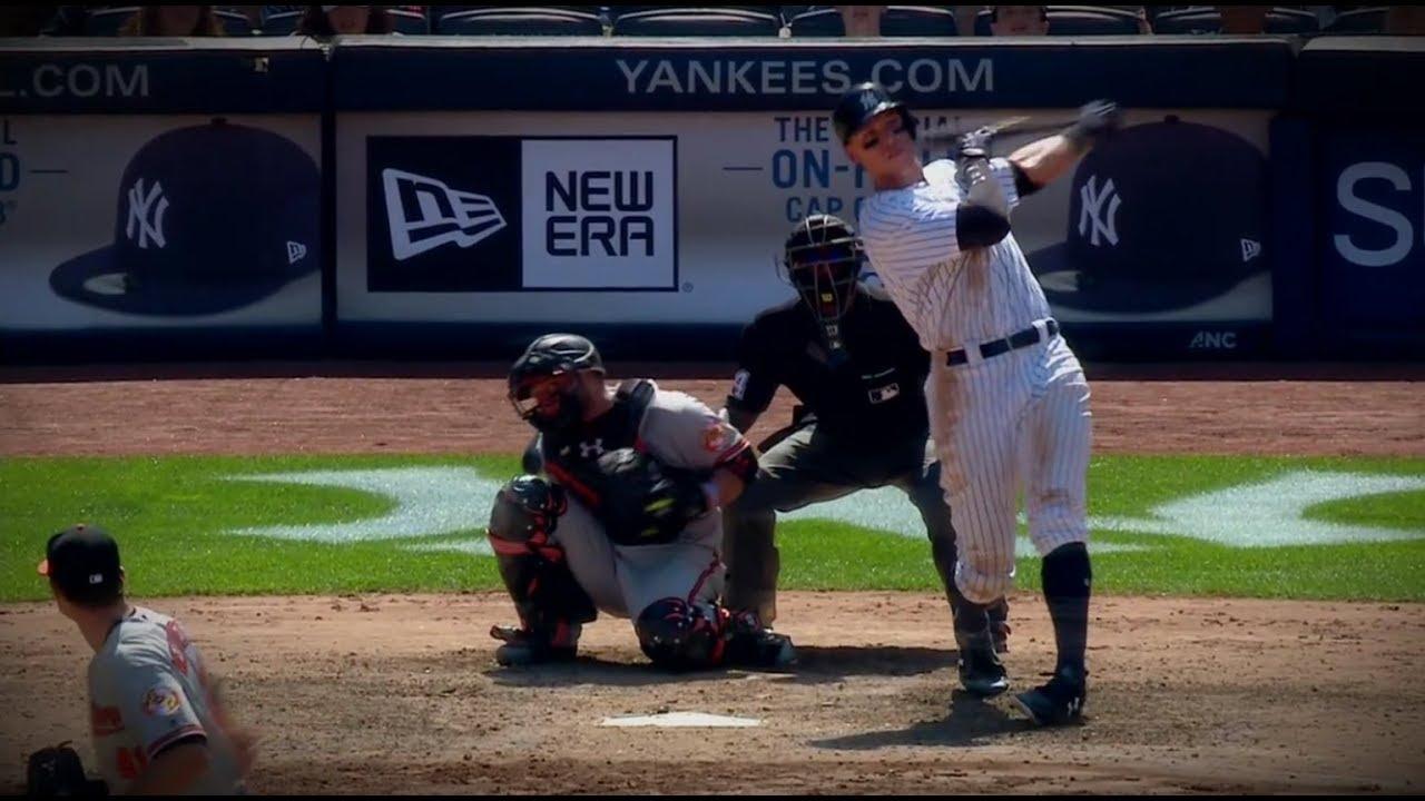 Aaron Judge hits 495 foot home run ...