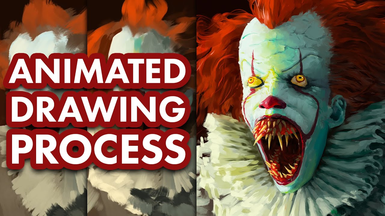 It Chapter 2 Pennywise Fan Art Drawing Process