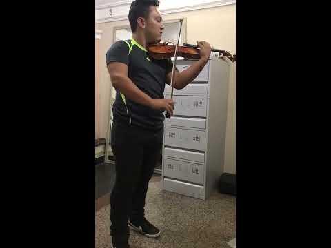 Violinista Fabio Dos Santos -  Belem  PA,  Violino de P. Mouta