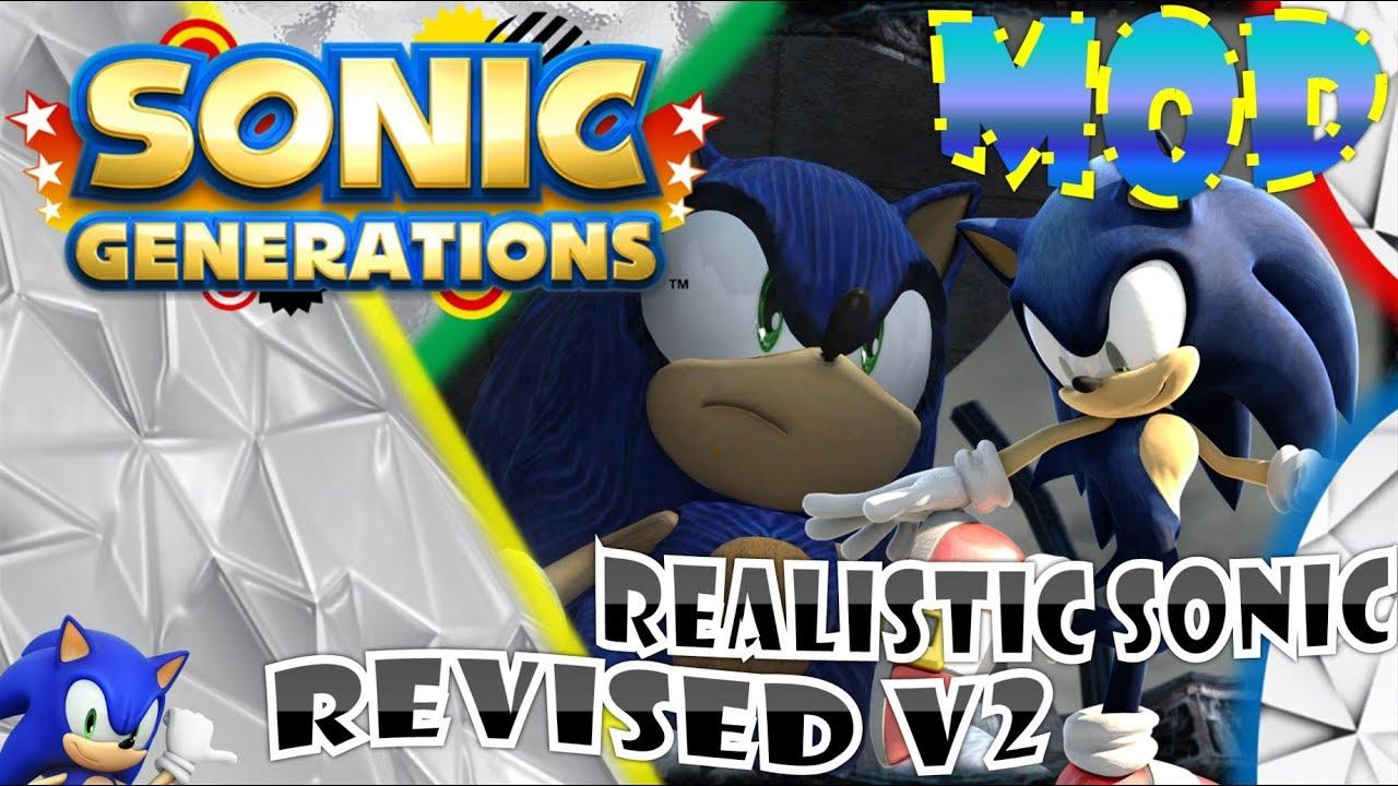 Sonic Generations (PC) - Realistic Sonic Revised V2 Mod Showcase [Motion  Blur]