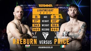 BAMMA 35: Phil Raeburn vs Myles Price