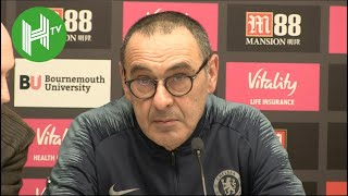 Bournemouth 4-0 Chelsea | Sarri: I kept players locked in dressing room after match