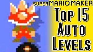Super Mario Maker TOP 15 AUTO MARIO Courses (Wii U)