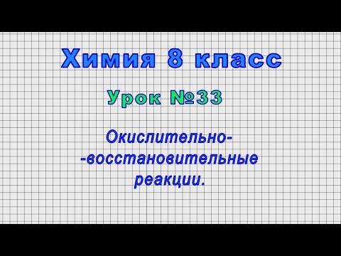 Химия 8 класс (Урок№33 - Окислительно-восстановительные реакции.)