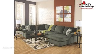 Ashley Jessa Place 3 Piece Sectional With Chaise (APK-39803-R3) | KEY Home