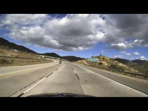 Leaving Hollywood! LA to Palmdale on the 101, 170, 5, 14 Dashcam