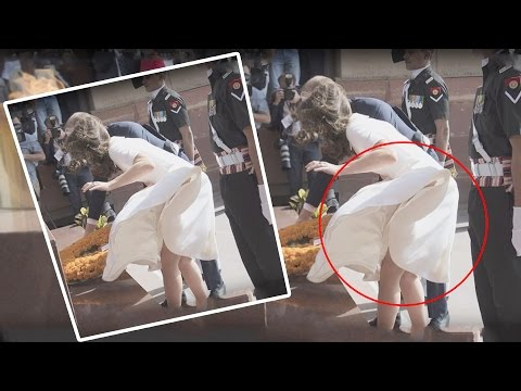 Kate Middleton's WARDROBE MALFUNCTION On Indian Trip