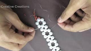 DIY Easy Bracelet,Elegant Pearl Beaded Bracelet,Wedding jewelry,Super Easy Tutorial