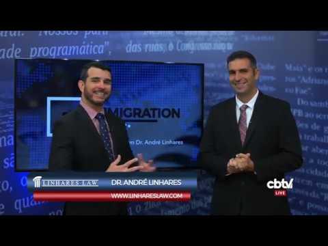 Entrevista 8 com o Dr. Andre Linhares na CBTV News - Advogado de Imigração