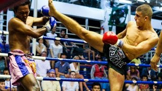 Alexi Mourad Round 2 Knockout at Bangla Boxing Stadium - Phuket - AKA Thailand
