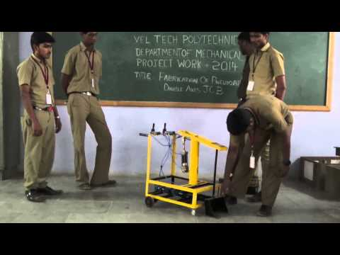 FABRICATION OF PNEUMATIC DOUBLE AXIS JCB (BATCH 13)