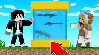 【木鱼】我的世界:木鱼分析恐龙化石,提取出沧龙海王龙的DNA,并成功孕育出来!