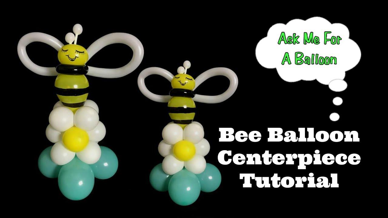 Bee balloon centerpiece tutorial youtube