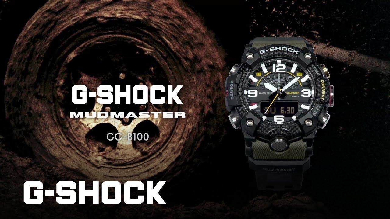 129380192348d8 MUDMASTER GG-B100 CARBON CORE GUARD : CASIO G-SHOCK - YouTube