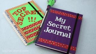 How to Make a Super Secret Diary | Sophie