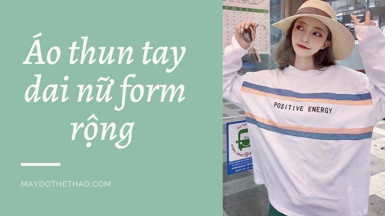 Mẫu áo thun nữ form dài rộng – Thể thao YES