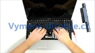 Keyboard replacement Videonávod Výměna klavesnice ACER ASPIRE E1-571G vymena-displeje.cz