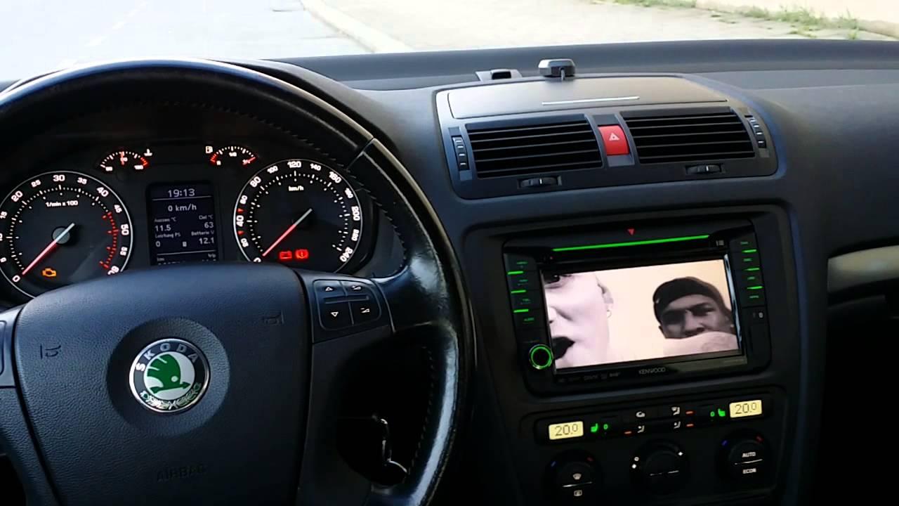 Kenwood Dnx 525dab Octavia 2 1z Youtube