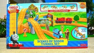 Thomas And Friends SCENES OF SODOR TUNNEL SET 2014 Wooden Toy Train Review By Mattel