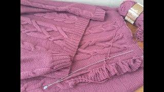 Костюм: свитер и юбка из шерстяной пряжи Nako Pure Wool
