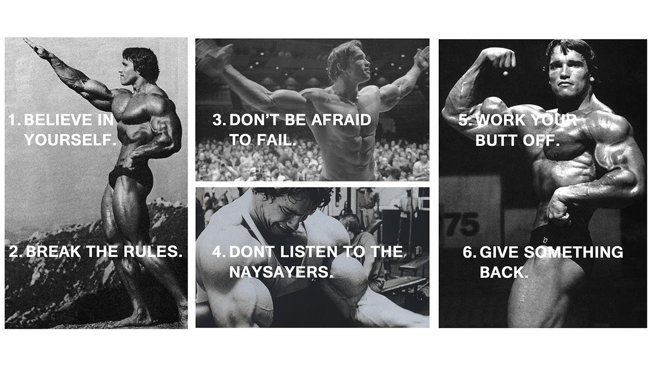 Arnold Schwarzenegger 6 Rules Of Success Speech Rules Of