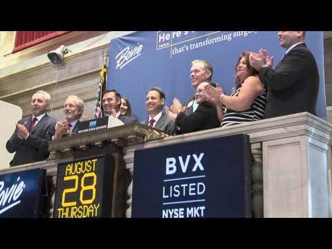 Bovie rings the NYSE Opening Bell