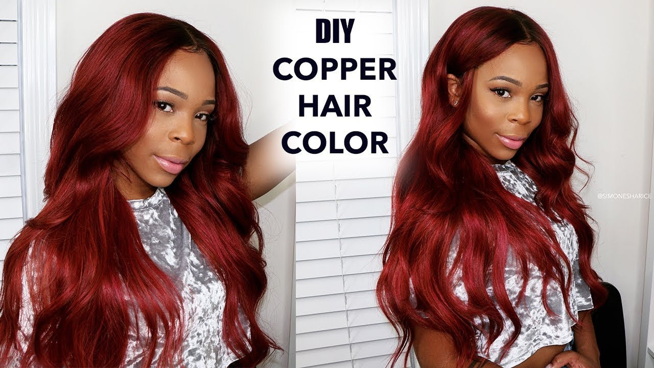 Easy Copper Hair and How I Dye My Frontal! \ SuperNovaHair ...