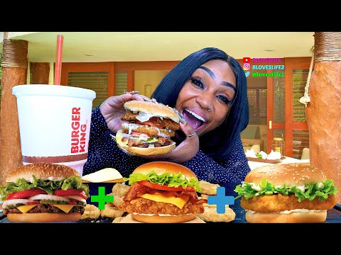 The Land, Sea, And Air Burger Challenge By Mukbang Bulls And Friends
