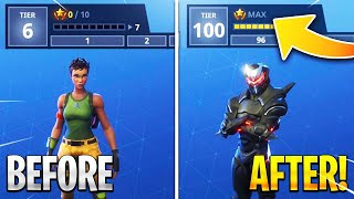 "Season 4 MAX BATTLE PASS FAST & EASY! ""Tier 100"" Fastest Way to RANK UP! (Fortnite Season 4)"