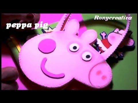 COMO HACER A PEPPA PIG - BOLSITA DE FOAMY o GOMA EVA - YouTube
