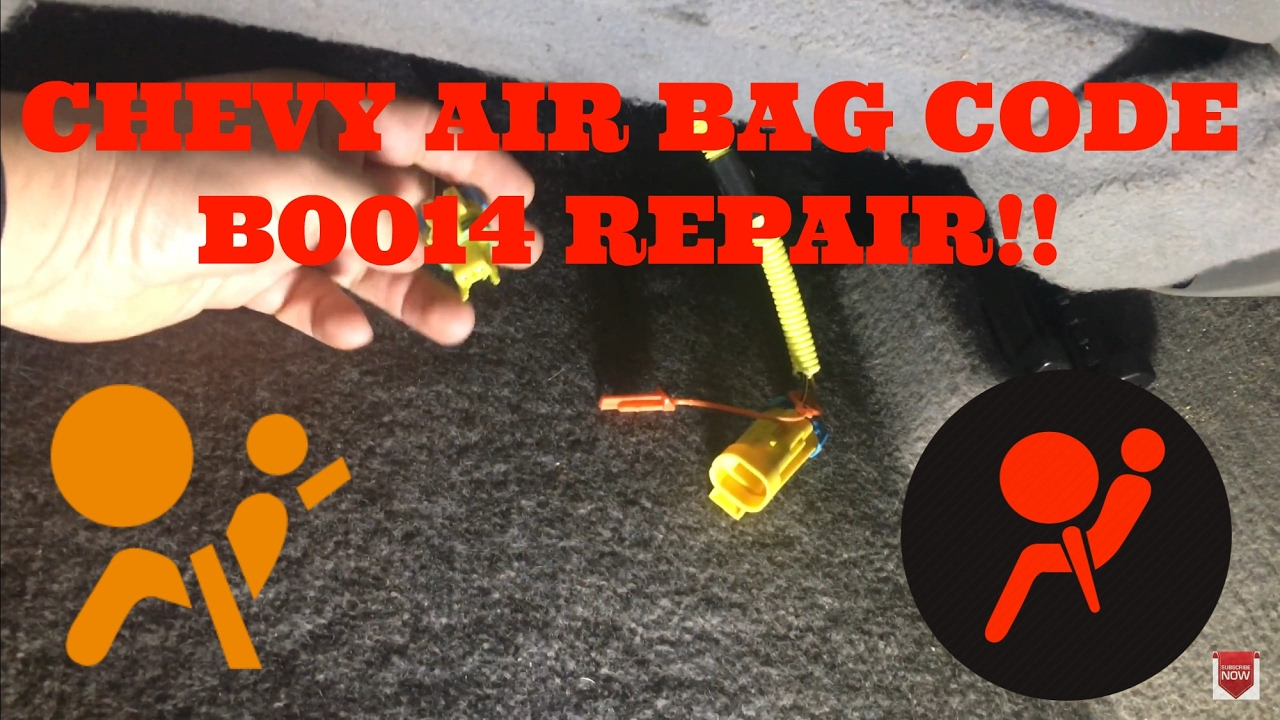 Chevy air bag code B0014 repair on